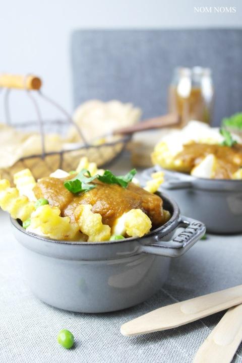 {mein heimatgericht} vegetarische poutine aus kanada: pommes, käse & braune soße + gewinnspiel ❤