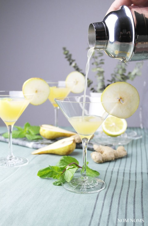 birnen gin martini mit ingwer | pear gin martini with ginger ❤