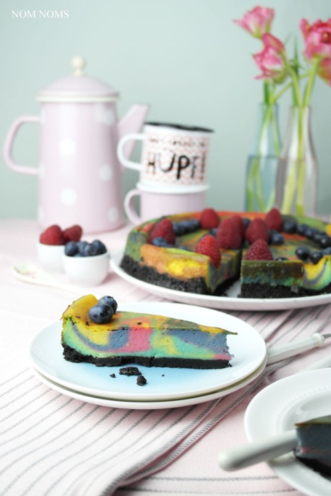 veganer einhorn käsekuchen   vegan unicorn cheesecake ❤